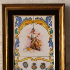 Antigüedades: CUADRO AZULEJOS - VALENCIANO - NARANJAS - FIRMADO J.RODA. Lote 176708532