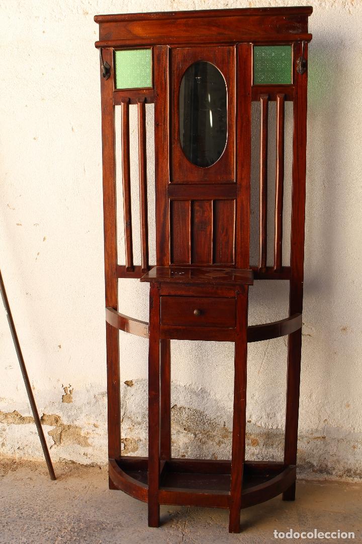Antigüedades: Mueble de recibidor y/o auxiliar de Teka - Foto 6 - 176716158