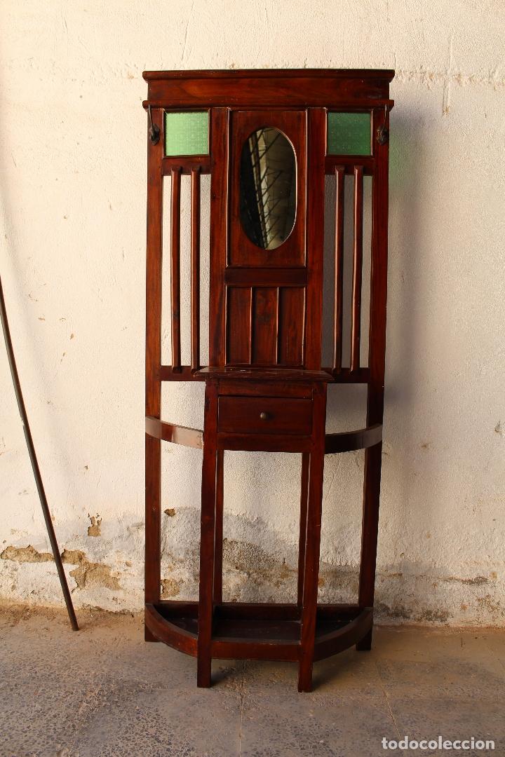 Antigüedades: Mueble de recibidor y/o auxiliar de Teka - Foto 7 - 176716158