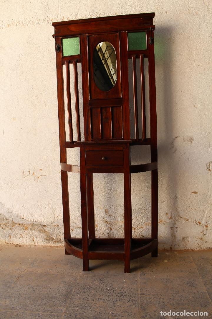 Antigüedades: Mueble de recibidor y/o auxiliar de Teka - Foto 8 - 176716158