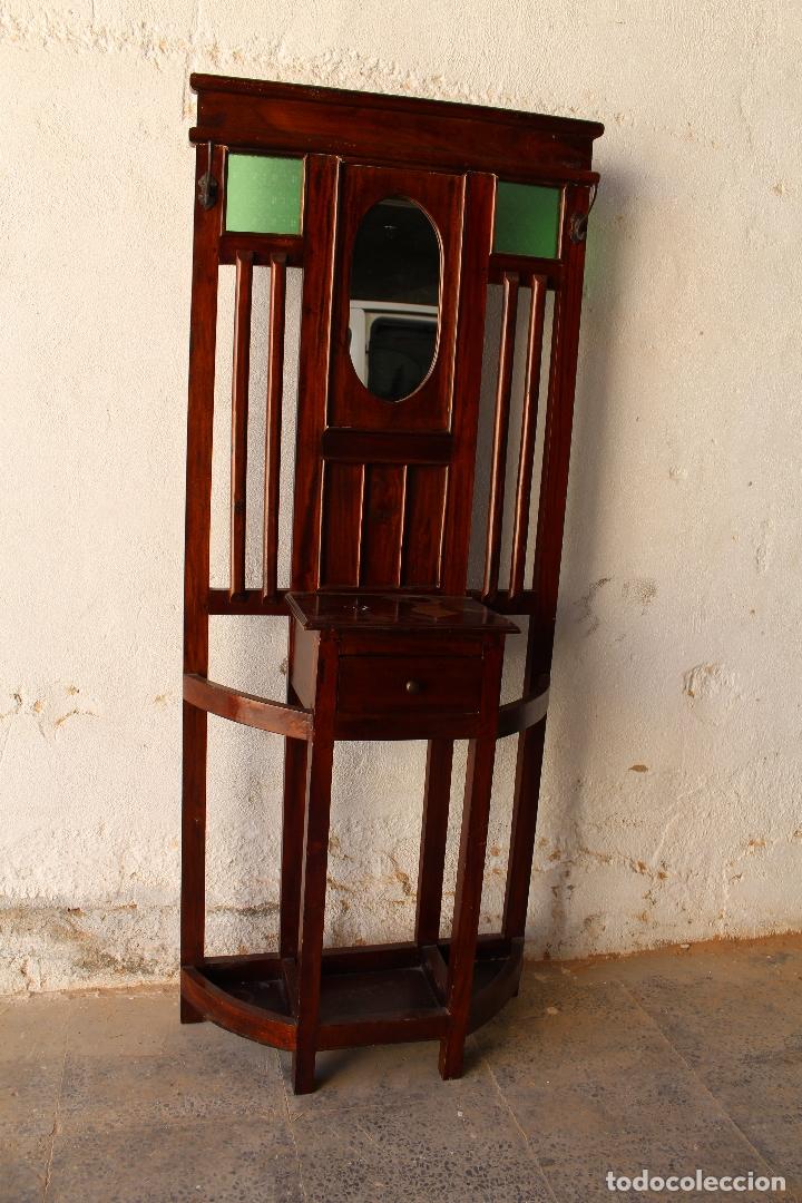Antigüedades: Mueble de recibidor y/o auxiliar de Teka - Foto 9 - 176716158