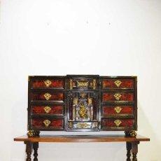 Antigüedades: ESPECTACULAR BARGUEÑO ANTIGUO EBONIZADO Y CAREY. Lote 176720147