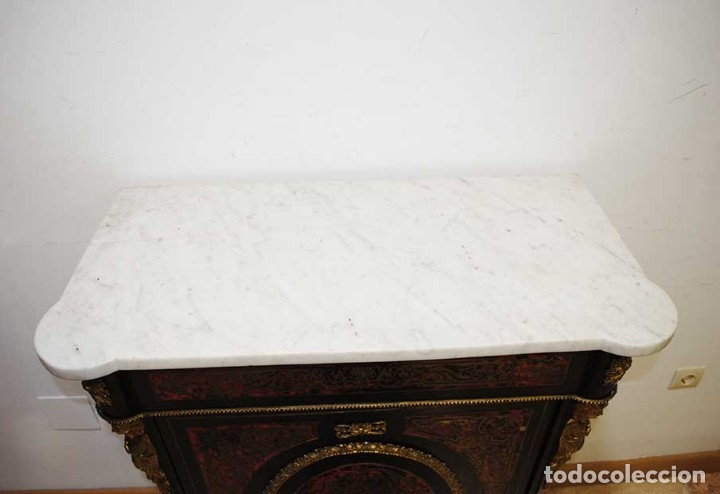 Antigüedades: PRECIOSO MUEBLE ENTREDÓS RECIBIDOR BOULLÉ ESTILO NAPOLEÓN III - Foto 4 - 176720699