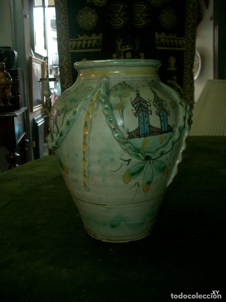 JARRON CERAMICA, PUENTE DEL ARZOBISPO (TOLEDO) (Antigüedades - Porcelanas y Cerámicas - Puente del Arzobispo )