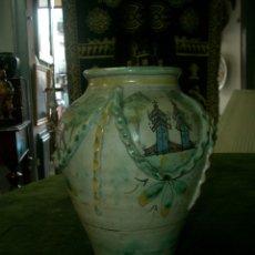 Antigüedades: JARRON CERAMICA, PUENTE DEL ARZOBISPO (TOLEDO). Lote 176724867