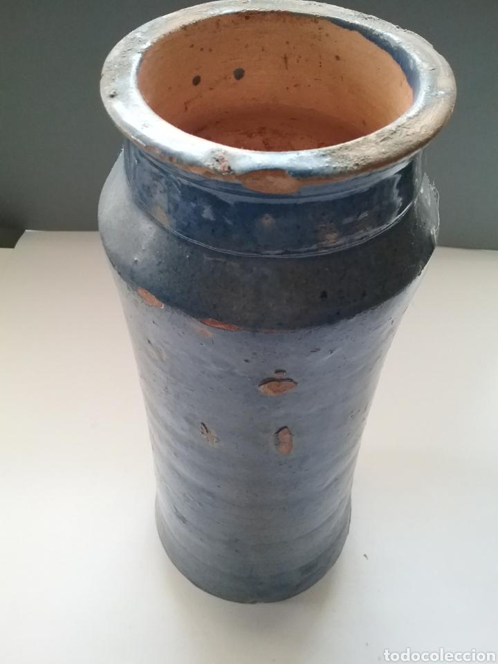 Antigüedades: Antiguo Albarelo o bote de Farmacia en cerámica esmaltada en azul. Teruel finales siglo XVIII. - Foto 4 - 176731699
