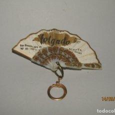 Antigüedades: ANTIGUO LLAVERO PUBLICIDAD DE ABANICOS FOLGADO EN ALDAYA, VALENCIA. Lote 176731789
