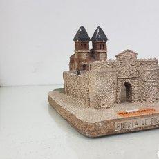 Antigüedades: COLECCIÓN EUROMONUMENTAL PUERTA DE BISAGRA EN PIEDRA DE ALABASTRO CON ALGÚN DEFECTO MEDIDAS 15X10CMS. Lote 176748015