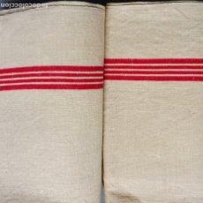 Antigüedades: DOS ANTIGUAS TOALLAS DE LINO S. XIX. Lote 189095145