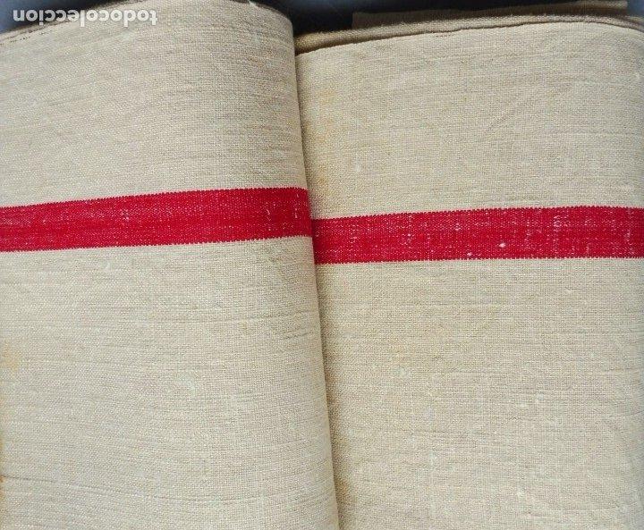 DOS ANTIGUAS TOALLAS DE LINO S. XIX (Antigüedades - Moda - Otros)