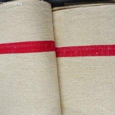 Antigüedades: DOS ANTIGUAS TOALLAS DE LINO S. XIX. Lote 176751059