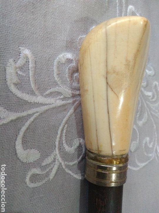 BASTÓN (S. XIX,, MARFIL, LICEO DE BARCELONA, MUY BUSCADO ). MÁS BASTONES EN MI PERFIL. (Antigüedades - Moda - Bastones Antiguos)