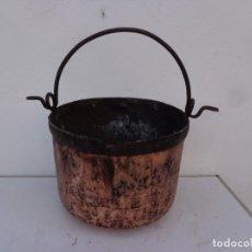 Antigüedades: MAS DE 100 AÑOS Y BONITA CALDERA DE GRUESO COBRE, COMPLETA Y EN BUEN ESTADO, SIN ROTURAS. Lote 176771852