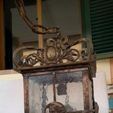 Antigüedades: ANTIGUO FAROL DE BRONCE MACIZO. Lote 176782359