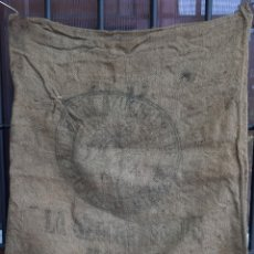 Antigüedades: ANTIGUO SACO ARPILLERA YUTE AZUCARERA DE MONZON ( HUESCA , ARAGON ) ANTIGUO INDUSTRIAL 60 KILOS. Lote 176787430