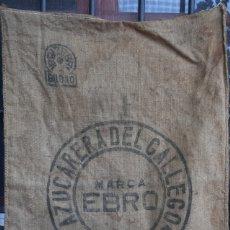 Antigüedades: ANTIGUO SACO ARPILLERA YUTE AZUCARERA DEL GALLEGO ( ZARAGOZA , ARAGON ) MARCA EBRO - BILBAO. Lote 176787737