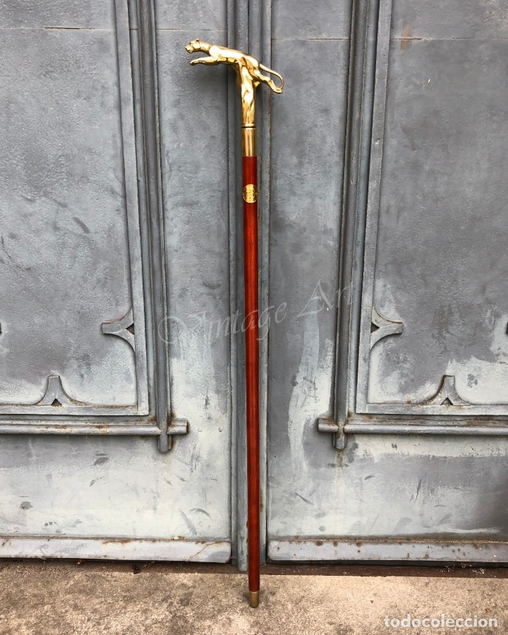Antigüedades: Bastón con mango de bronce - pantera - Foto 2 - 174290777