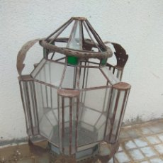 Antigüedades: ANTIGUO FAROL GRANADINO - GRAN TAMAÑO - LEER DESCRIPCIÓN -. Lote 176827823