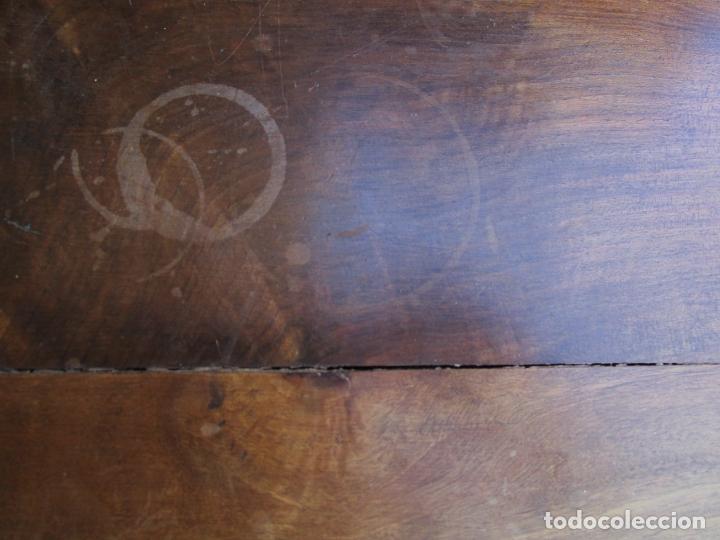Antigüedades: Mesita, Xifonier - Pequeña Cómoda - Madera de Nogal - Ancho 63 cm - Foto 9 - 176841902