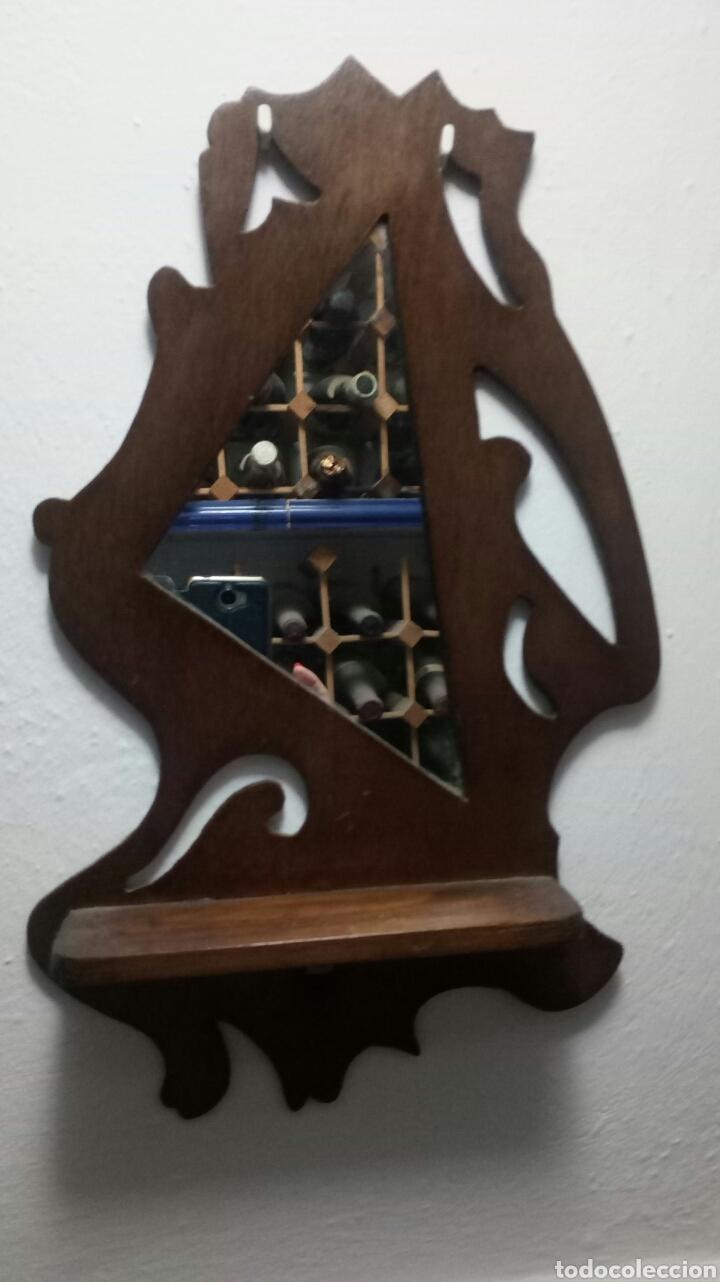 Antigüedades: Dos Repisas antiguas madera con espejo - Foto 2 - 176842230