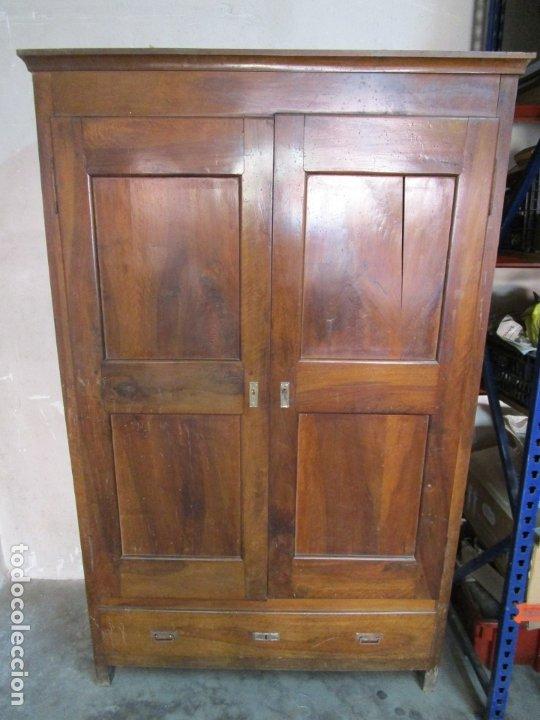 Antigüedades: Antiguo Armario Isabelino - Madera de Nogal - Altura 210 cm - S. XIX - Foto 2 - 176843622