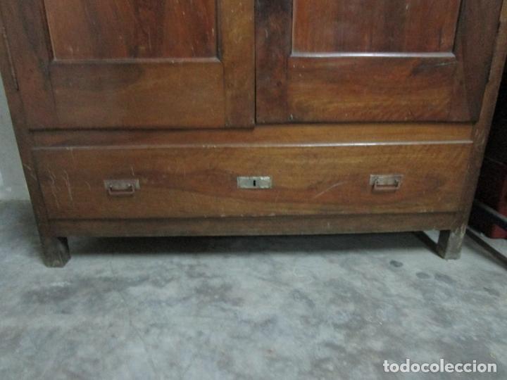 Antigüedades: Antiguo Armario Isabelino - Madera de Nogal - Altura 210 cm - S. XIX - Foto 5 - 176843622