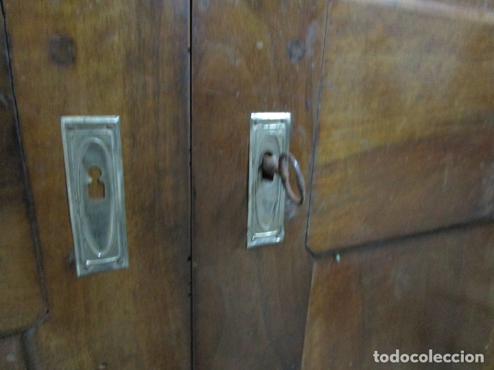 Antigüedades: Antiguo Armario Isabelino - Madera de Nogal - Altura 210 cm - S. XIX - Foto 9 - 176843622