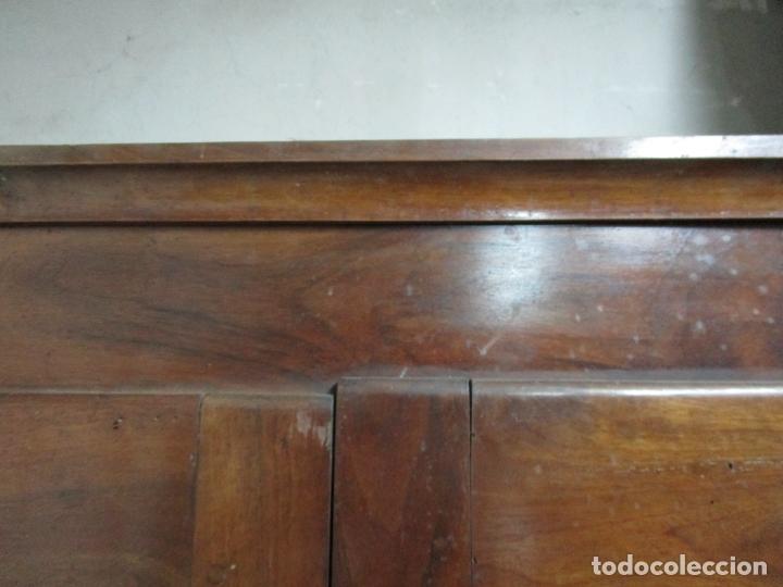 Antigüedades: Antiguo Armario Isabelino - Madera de Nogal - Altura 210 cm - S. XIX - Foto 10 - 176843622