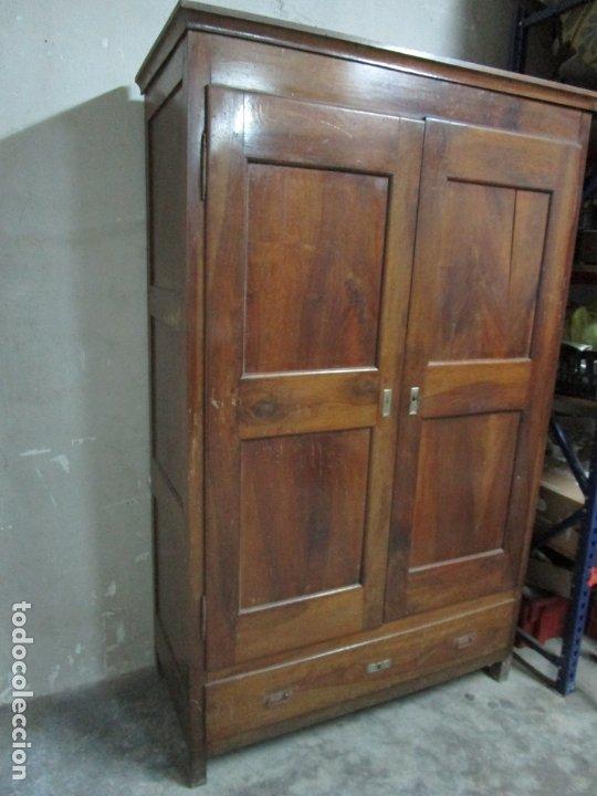 Antigüedades: Antiguo Armario Isabelino - Madera de Nogal - Altura 210 cm - S. XIX - Foto 11 - 176843622