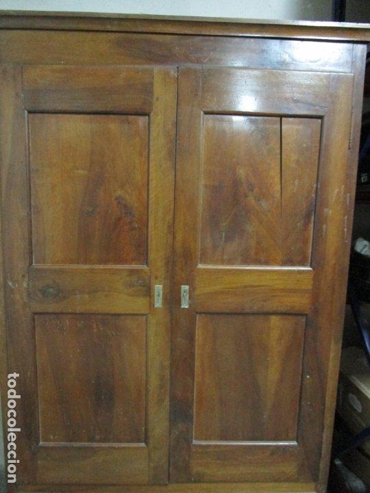 Antigüedades: Antiguo Armario Isabelino - Madera de Nogal - Altura 210 cm - S. XIX - Foto 13 - 176843622
