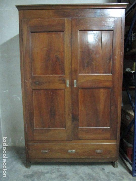 Antigüedades: Antiguo Armario Isabelino - Madera de Nogal - Altura 210 cm - S. XIX - Foto 20 - 176843622