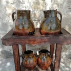 Antigüedades: CÁNTARAS DE BARRO. Lote 176848020
