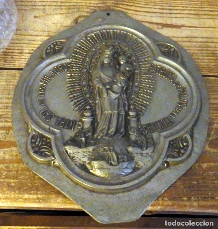 PALOS DE LA FRONTERA, ANTIQUISIMO PLAFON NTRA.SRA. DE LOS MILAGROS,20X25 CMS, PESO 1,20 KGS (Antigüedades - Religiosas - Varios)