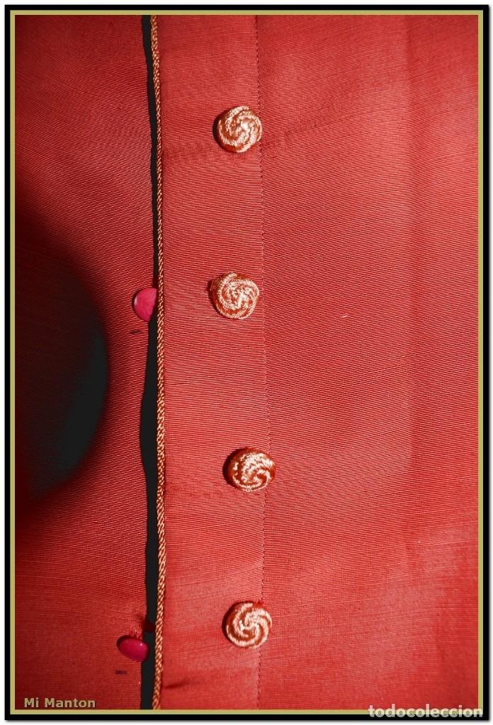 Antigüedades: Sotana de monaguillo seda salvaje antigua podria ser infantico del pilar - Foto 2 - 176870714