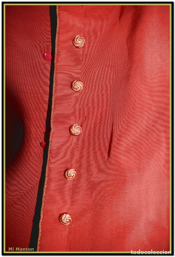 Antigüedades: Sotana de monaguillo seda salvaje antigua podria ser infantico del pilar - Foto 4 - 176870714