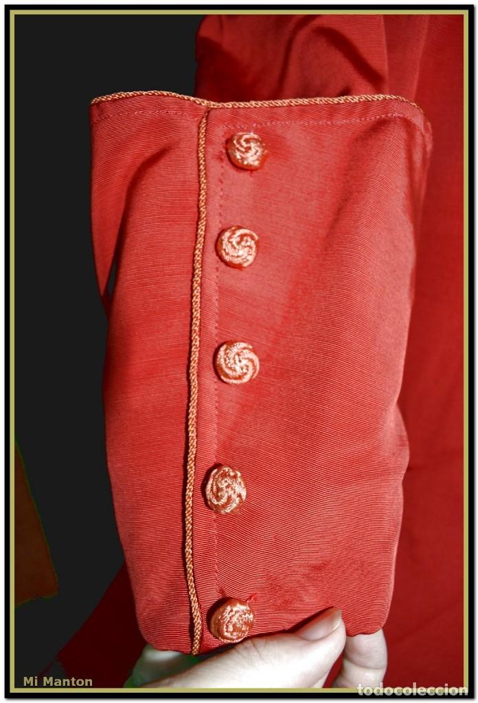 Antigüedades: Sotana de monaguillo seda salvaje antigua podria ser infantico del pilar - Foto 5 - 176870714