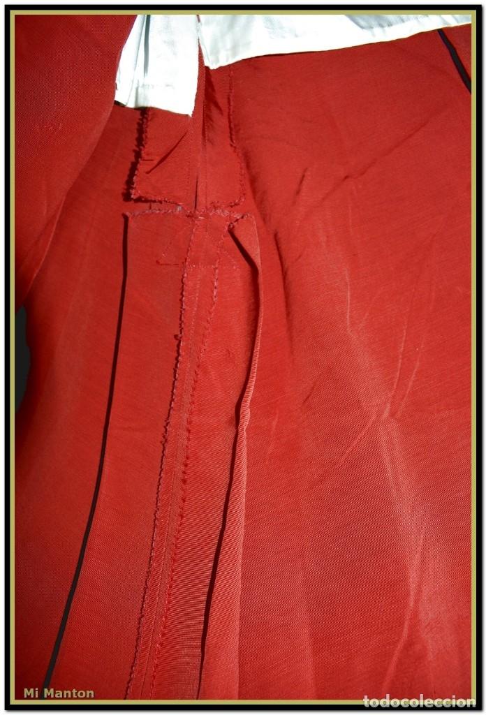 Antigüedades: Sotana de monaguillo seda salvaje antigua podria ser infantico del pilar - Foto 7 - 176870714