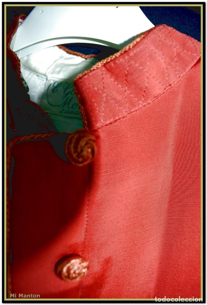 Antigüedades: Sotana de monaguillo seda salvaje antigua podria ser infantico del pilar - Foto 9 - 176870714
