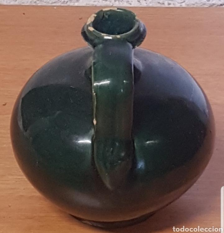 Antigüedades: Cantaro Cantara Perula aceitera cerámica popular vidriada verde - Foto 2 - 176882970