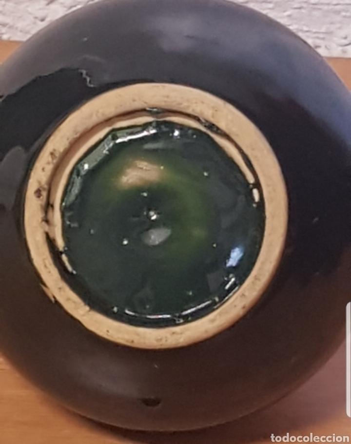 Antigüedades: Cantaro Cantara Perula aceitera cerámica popular vidriada verde - Foto 4 - 176882970