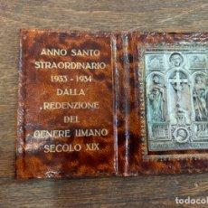 Antigüedades: CARTERA- ROMA ANNO SANTO STRAORDINARIO 1933-1934 - MEDIDA ABIERTO 11.5X8 CM. Lote 176890069