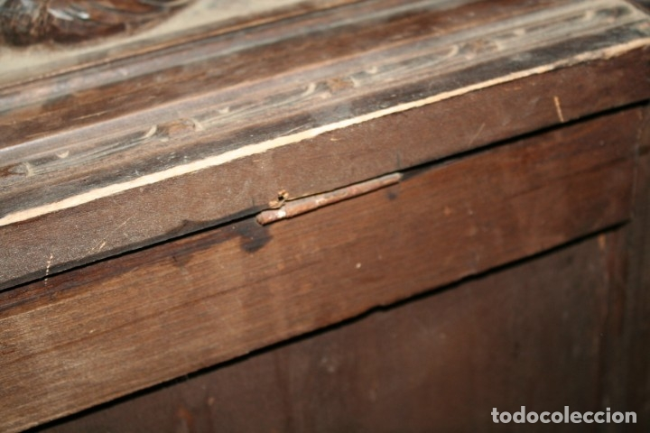 Antigüedades: antigua arca estilo frances con dibujos en relieve - Foto 19 - 31271150