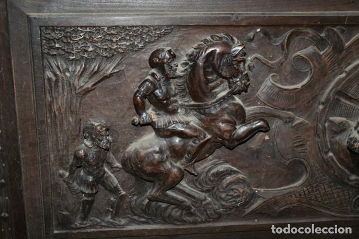 Antigüedades: antigua arca estilo frances con dibujos en relieve - Foto 21 - 31271150