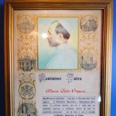Antigüedades: BEATÍSIMO PADRE. SELLO VATICANO Y FIRMADO.. Lote 176908885