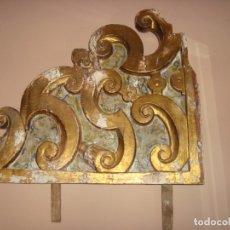 Antigüedades: ANTIGUO REMATE DE RETABLO DE ALTAR DE IGLESIA .SIGLO XVIII-XIX. Lote 176912497