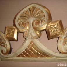 Antigüedades: ANTIGUO REMATE DE ALTAR DE IGLESIA . SIGLO XVIII-XIX. Lote 176912555