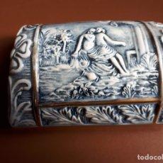 Antigüedades: CAJA PORCELANA R. CAPODIMONTE. Lote 176913100