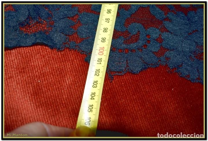 Antigüedades: Antigua mantilla de terno o goyesca con pedreria mantilla ofrenda - Foto 7 - 176918408