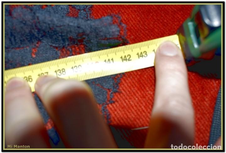 Antigüedades: Antigua mantilla de terno o goyesca con pedreria mantilla ofrenda - Foto 8 - 176918408