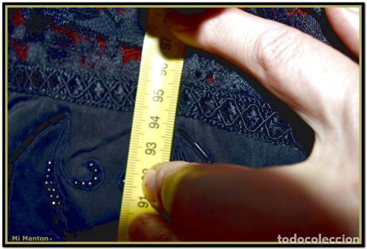 Antigüedades: Antigua mantilla de terno o goyesca con pedreria mantilla ofrenda - Foto 9 - 176918408